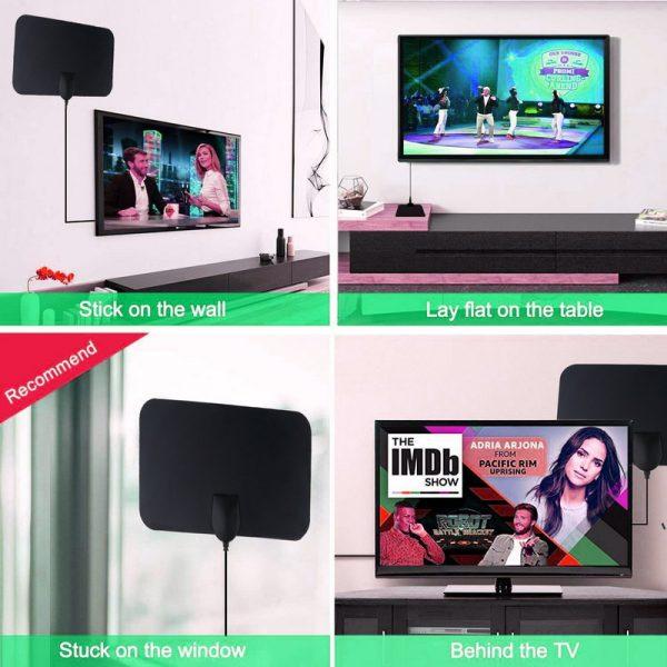 Kebidumei 4K 25DB High Gain HD TV DTV Box Digital TV Antenna EU Plug