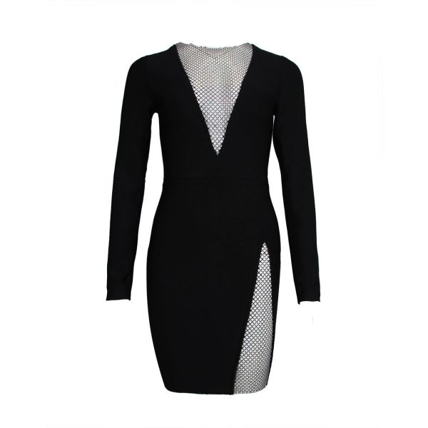 Diamond Ladies Party Long-sleeved Slim Dress