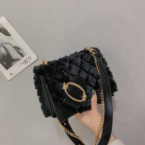 Soft Plush Ladies Square Bag