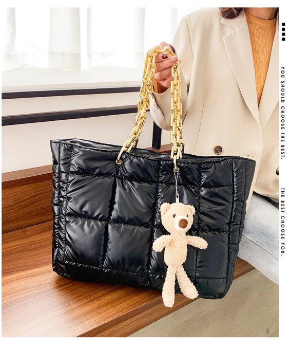 Thick Chain Tote Bags Leather