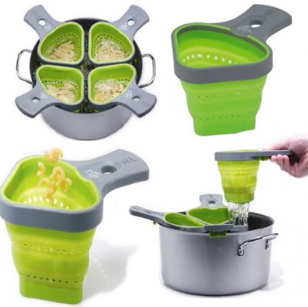Collapsible Silicone Odourless Heat-resistant Colander
