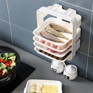 Household Wall-mounted Kitchen Shelf Side Tray