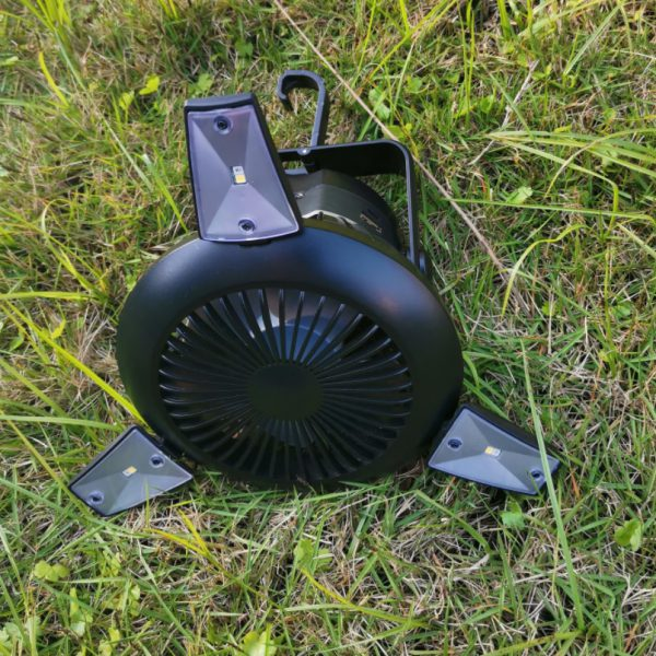 Outdoor Solar Camping Light with Fan